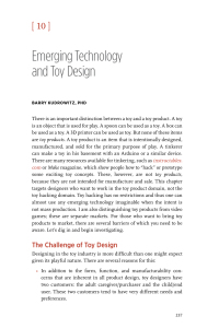 Emerging Technology and Toy Design