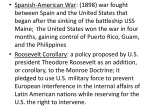 • Spanish-American War: (1898) war fought between Spain and the