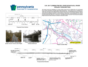 sr 2017 (gibraltar rd.) over schuylkill river project