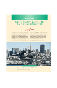 geography, culture, and environment