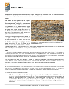 mineral sands - Minerals Council of Australia