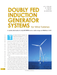 Doubly fed induction generator systems for wind turbines