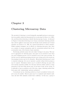Chapter 3 Clustering Microarray Data