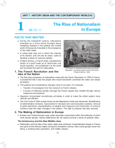 1 The Rise of Nationalism in Europe
