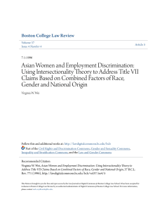 asian women and employment discrimination: using intersectionality
