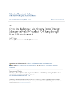 Visible-izing Praxis Through Mimicry in Phillis Wheatley`s