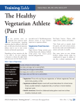 The Healthy Vegetarian Athlete (Part II) TrainingTable