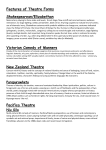 Features of Theatre Forms