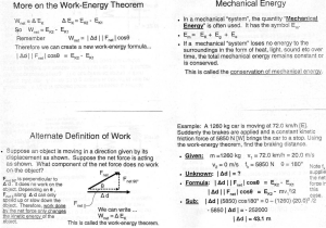 More en the Work-Energy Theorem Mechanical Energy Alternate