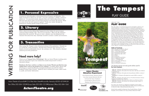 The Tempest - Actors Theatre of Louisville
