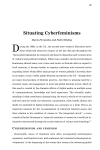 Situating Cyberfeminisms