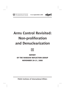 Arms Control Revisited: Non-proliferation and Denuclearization