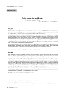 Asthma as a Cause of Death