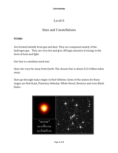 Level 6 Stars and Constellations