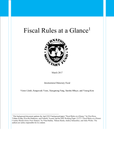 Fiscal Rules at a Glance