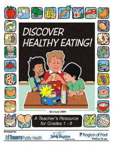 Discover Healthy Eating - Ontario Public Health Association