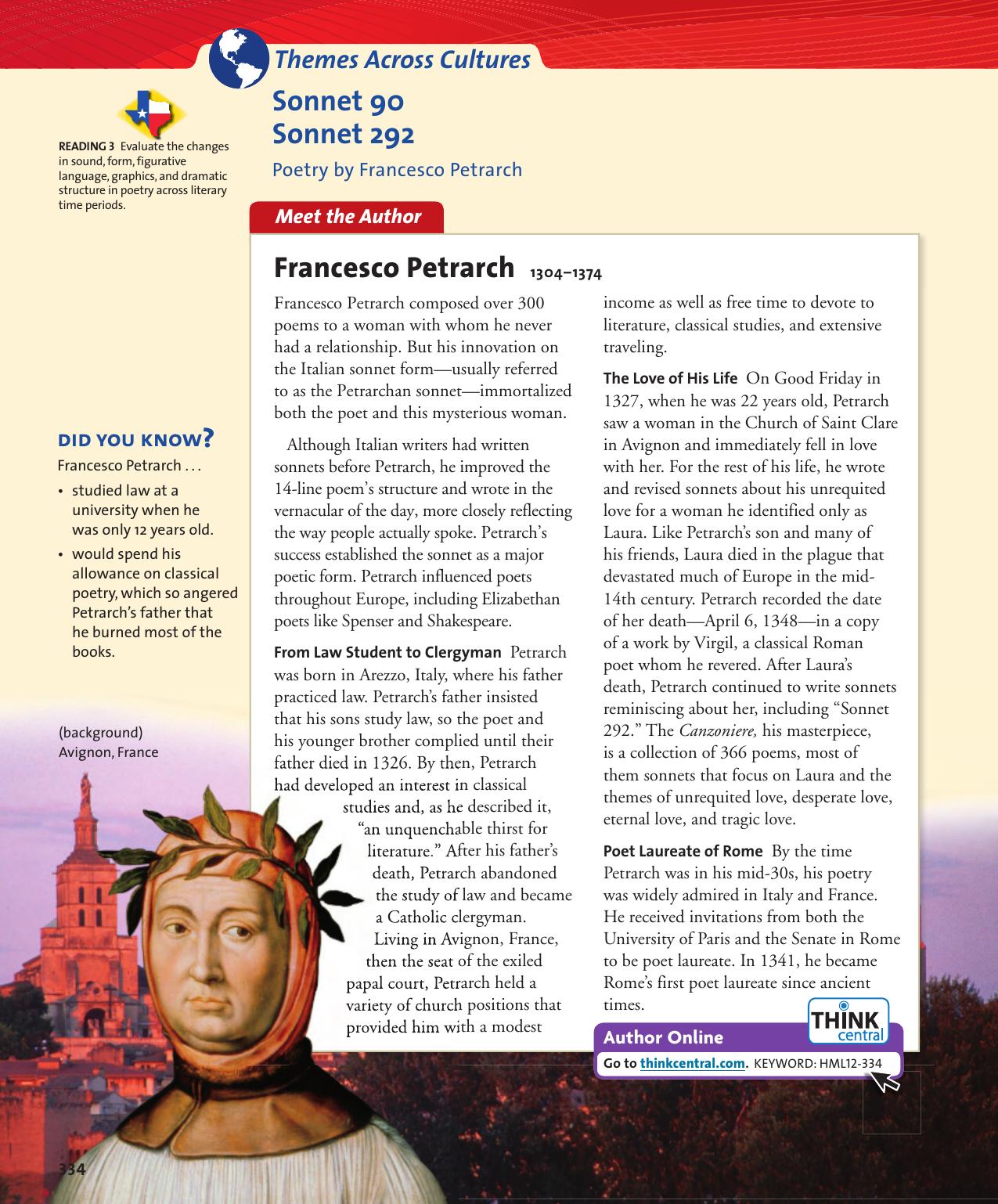 sonnet 292 francesco petrarch
