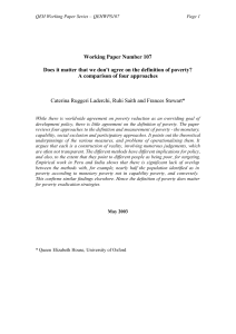 Working Paper Number 107 Does it matter that we don`t agree on