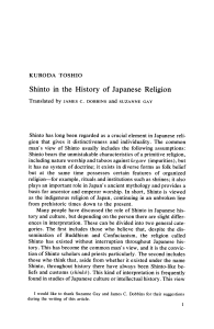 Shinto in the History of Japanese Religion