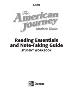 The American Journey Modern Times Reading Essentials