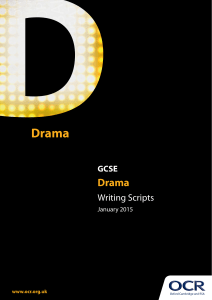 GCSE Drama Topic Pack on Writing Scripts