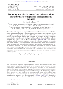 Bounding the plastic strength of polycrystalline solids by linear
