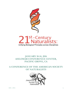 JANUARY 10-14, 2016 ASILOMAR CONFERENCE CENTER