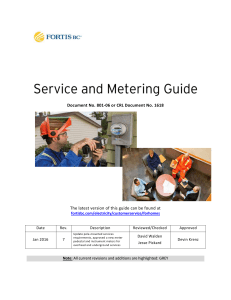Service and Metering Guide