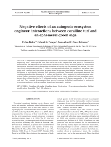 Negative effects of an autogenic ecosystem engineer: interactions