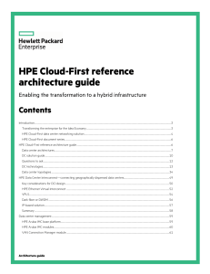 HPE Cloud-First reference architecture guide