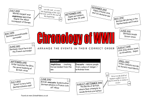 WWII chronology exercise