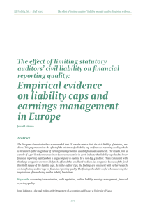 Empirical evidence on liability caps and earnings management in