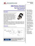 GBA Rotary Actuator for Fuel Control