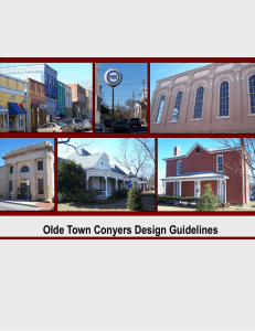 Olde Town Conyers Design Guidelines