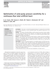 Optimization of axial-pump pressure sensitivity for a