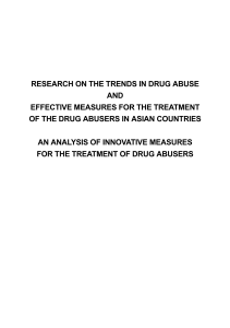 Research on the Trends in Drug Abuse and Effective Measures for