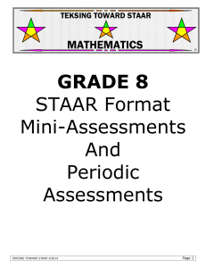 GRADE 8 STAAR Format Mini-Assessments And Periodic