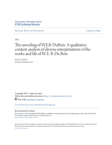 The unveiling of W.E.B. DuBois: A qualitative content analysis of