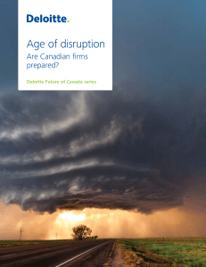 The age of disruption - Are Canadian firms prepared?