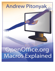 OpenOffice.org Macros Explained OOME Third Edition