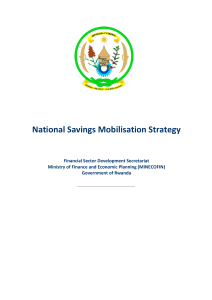 National Savings Mobilisation Strategy