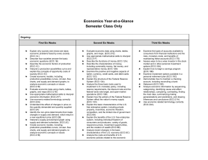 Economics Year-at-a-Glance Semester Class Only