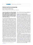 Alcohol and error processing
