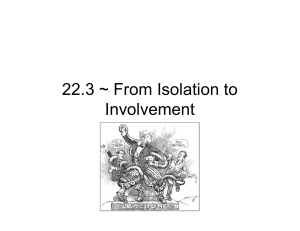 22.3 ~ From Isolation to Involvement