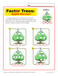 Factor trees worksheets grade 7