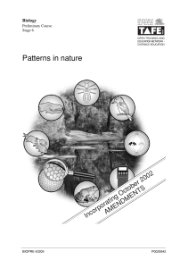 Topic 1 Patterns in Nature