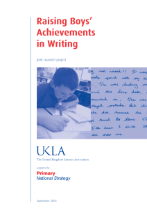 Raising Boys` Achievements in Writing