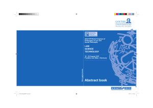 Abstract book - Publication Server of Goethe University Frankfurt am