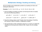 Multiplication Strategy: Doubling and Halving - K
