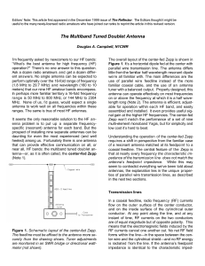 The Multiband Tuned Doublet Antenna